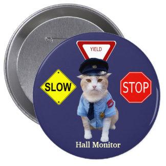 Oficial del gato/monitor divertidos de Pasillo Pin