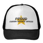 Oficial del servicio extranjero orgullosa gorras de camionero