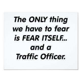 oficial del tráfico del miedo invitación personalizada