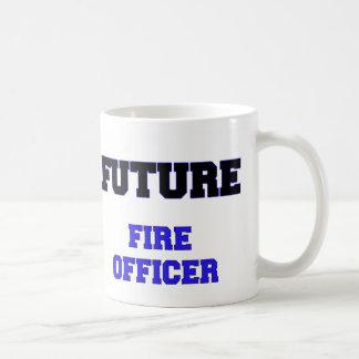 Oficial futuro del fuego taza básica blanca