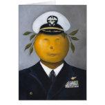 Oficial naval tarjeta
