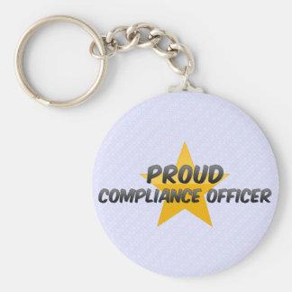 Oficial orgulloso de la conformidad llavero