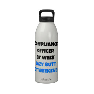 Oficial perezoso de la conformidad del extremo botella de agua