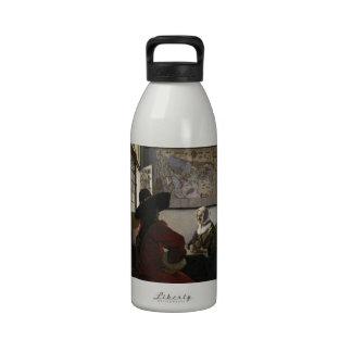 Oficial y chica de risa de Juan Vermeer Botella De Agua