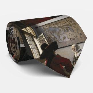 Oficial y chica de risa de Juan Vermeer Corbata Personalizada