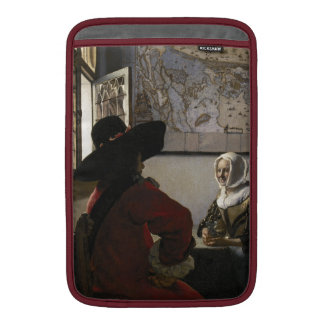 Oficial y chica de risa de Juan Vermeer Funda Macbook Air