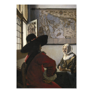 Oficial y chica de risa de Juan Vermeer Invitación