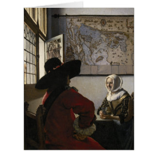 Oficial y chica de risa de Juan Vermeer Felicitación