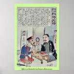 Oficial y librero por Utagawa, Kokunimasa Impresiones