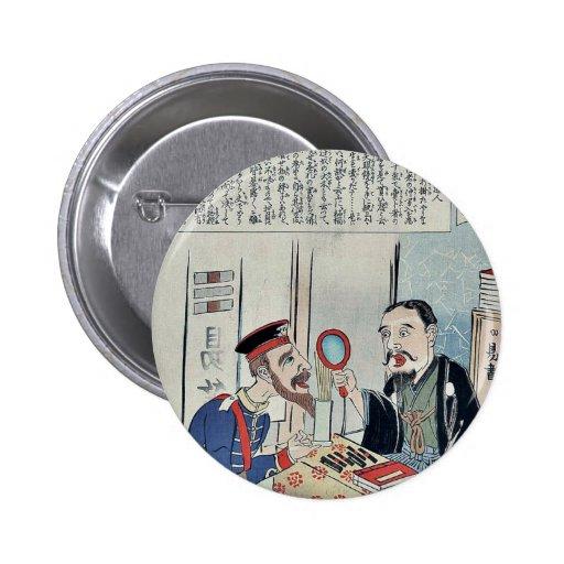 Oficial y librero por Utagawa, Kokunimasa Pin