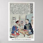 Oficial y librero por Utagawa, Kokunimasa Poster