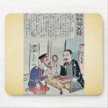 Oficial y librero por Utagawa, Kokunimasa Alfombrilla De Raton
