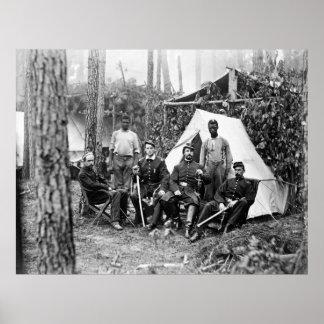 Oficiales de la 114a infantería de Pennsylvania: 1 Impresiones