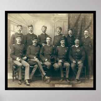 Oficiales de la 9na caballería SD 1891 Posters