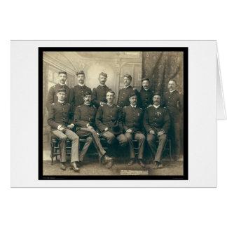 Oficiales de la 9na caballería SD 1891 Tarjetón