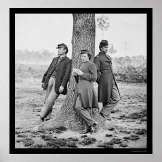 Oficiales de la artillería en el fuerte Brady, VA  Impresiones