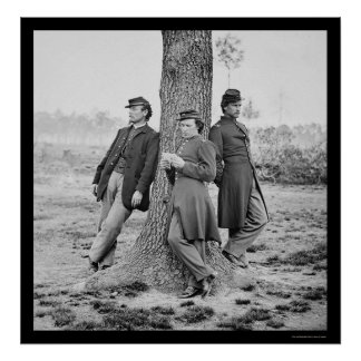 Oficiales de la artillería en el fuerte Brady, VA  Póster