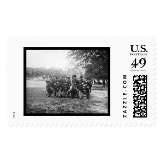 Oficiales de la artillería pesada en Fort Monroe, Timbres Postales