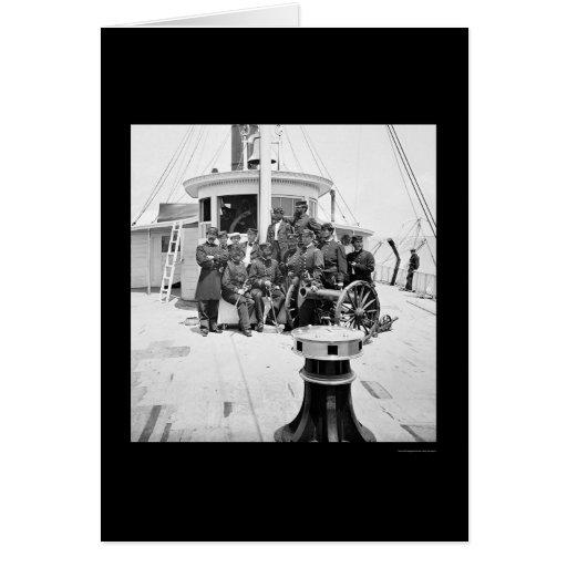 Oficiales de la marina de guerra en USS Tarjeta De Felicitación
