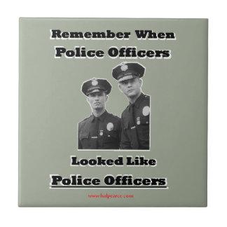 Oficiales de policía azulejo cuadrado pequeño