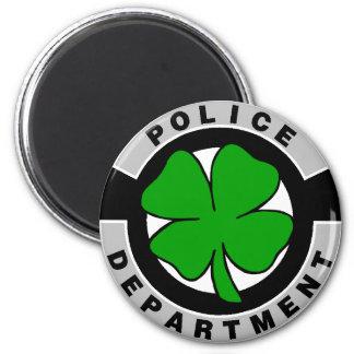 Oficiales de policía irlandeses imán redondo 5 cm