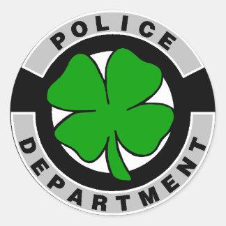 Oficiales de policía irlandeses etiqueta redonda