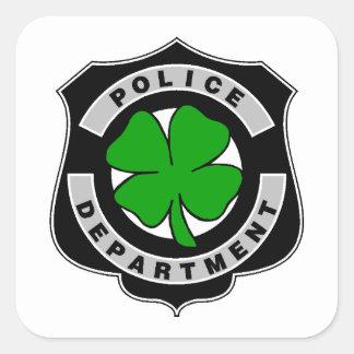 Oficiales de policía irlandeses pegatina cuadrada