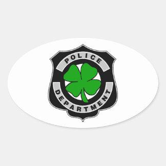 Oficiales de policía irlandeses pegatina ovalada