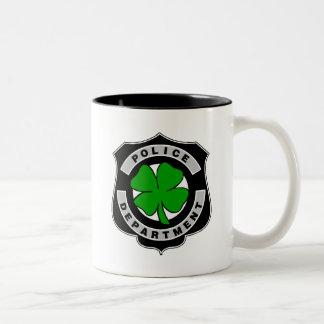 Oficiales de policía irlandeses tazas