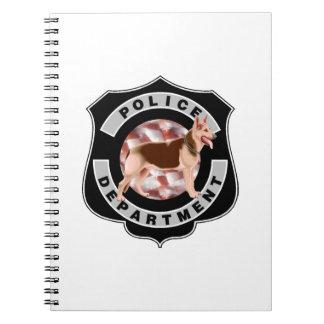 Oficiales de policía K9 Libro De Apuntes