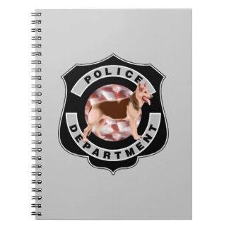 Oficiales de policía K9 Libro De Apuntes Con Espiral
