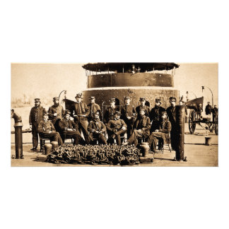 Oficiales en cubierta de la guerra civil del tarjeta fotográfica