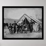 Oficiales en Gettysburg 1863 Impresiones