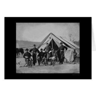 Oficiales en Gettysburg 1863 Tarjeton