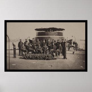 Oficiales en la cubierta del USS Monitor 1861 Posters