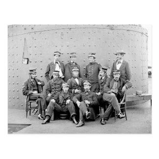 Oficiales en USS Monitor, 1862 Postal