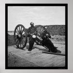 Oficiales navales en un cañón en Charleston, SC 18 Impresiones