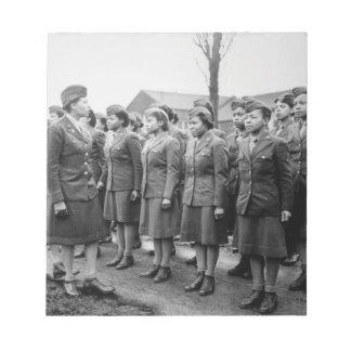 Oficiales negros que examinan a las tropas WWII In Bloc De Papel