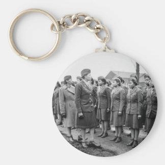 Oficiales negros que examinan a las tropas WWII In Llaveros Personalizados