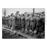 Oficiales negros que examinan a las tropas WWII Tarjeta De Felicitación