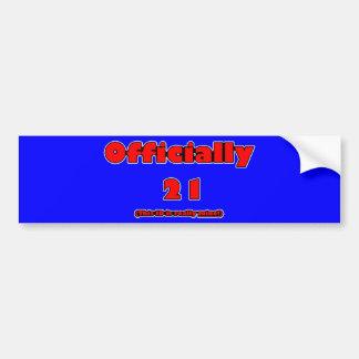 oficialmente 21 ahora etiqueta de parachoque