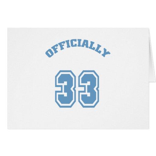 Oficialmente 33 felicitaciones