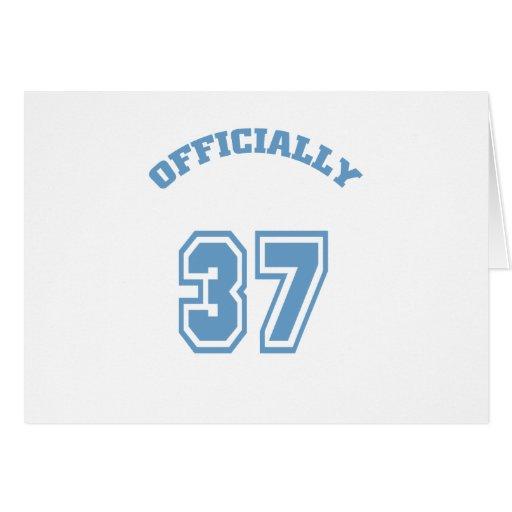 Oficialmente 37 tarjeton