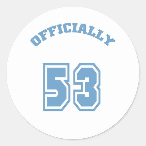 Oficialmente 53 etiqueta