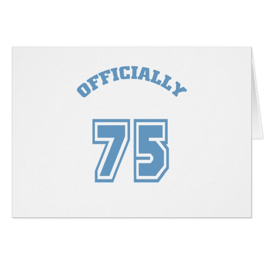 Oficialmente 75 tarjeta de felicitación