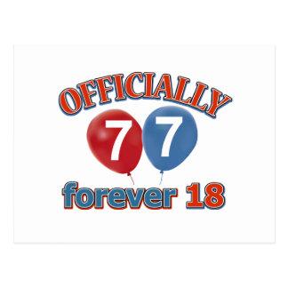 Oficialmente 77 para siempre 18 postal