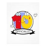 Oficialmente bandera de 10 cumpleaños membrete a diseño