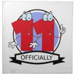 Oficialmente bandera de 11 cumpleaños servilletas de papel