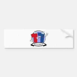Oficialmente bandera de 17 cumpleaños pegatina para auto