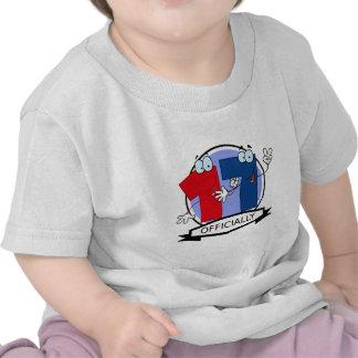 Oficialmente bandera de 17 cumpleaños camisetas